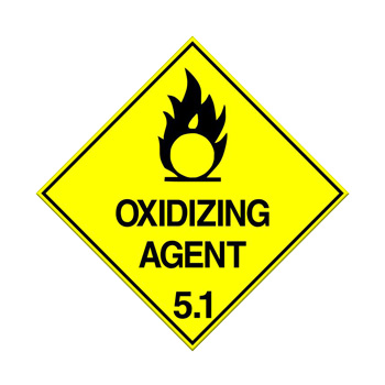 Oxidising Agent Class 5.1 Sign