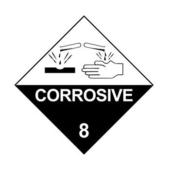 Class 8 Corrosive Substances Warning Sign