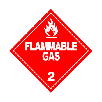 Class 2 Flammable Gas Warning Sign