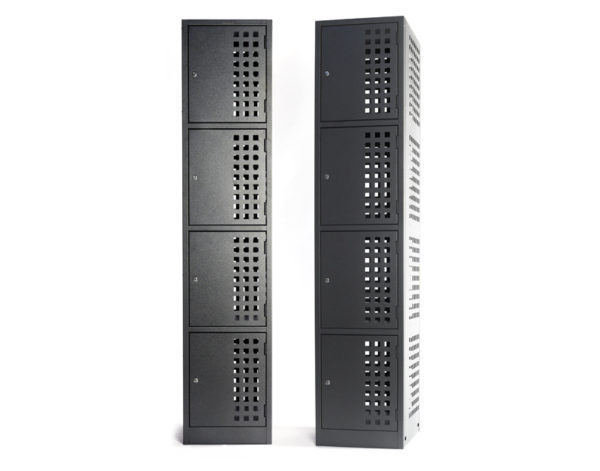 Multifile Perforated Powered Lockers