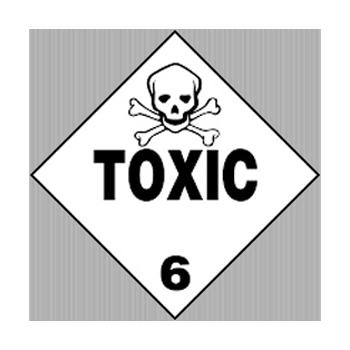 Class 6 Toxic Substances Warning Sign