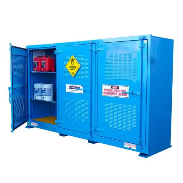 Outdoor 1000 Litre Oxidising Agent Storage Cabinets